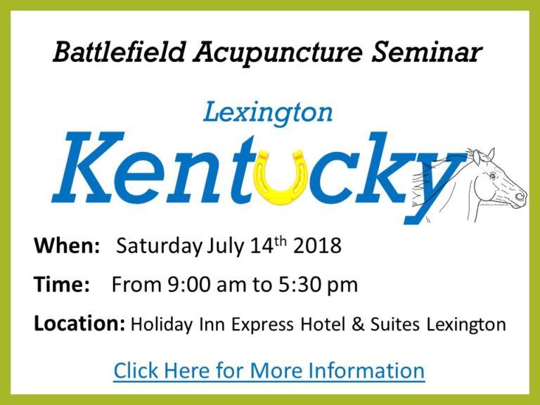 Battlefield Acupuncture Kentucky